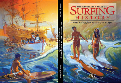 Portada de The illustrated atlas of surfing history. ©Ron Croci