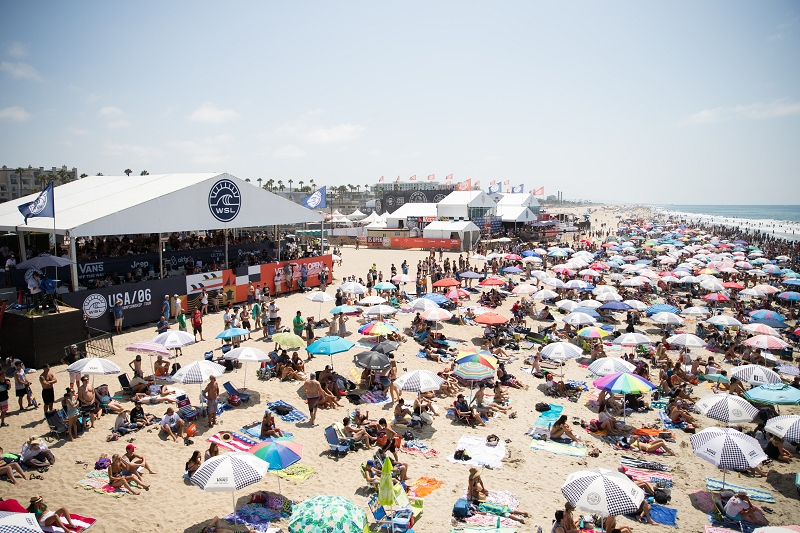 Huntington Beach y su aspecto habitual durante el US Open. Foto: Vans