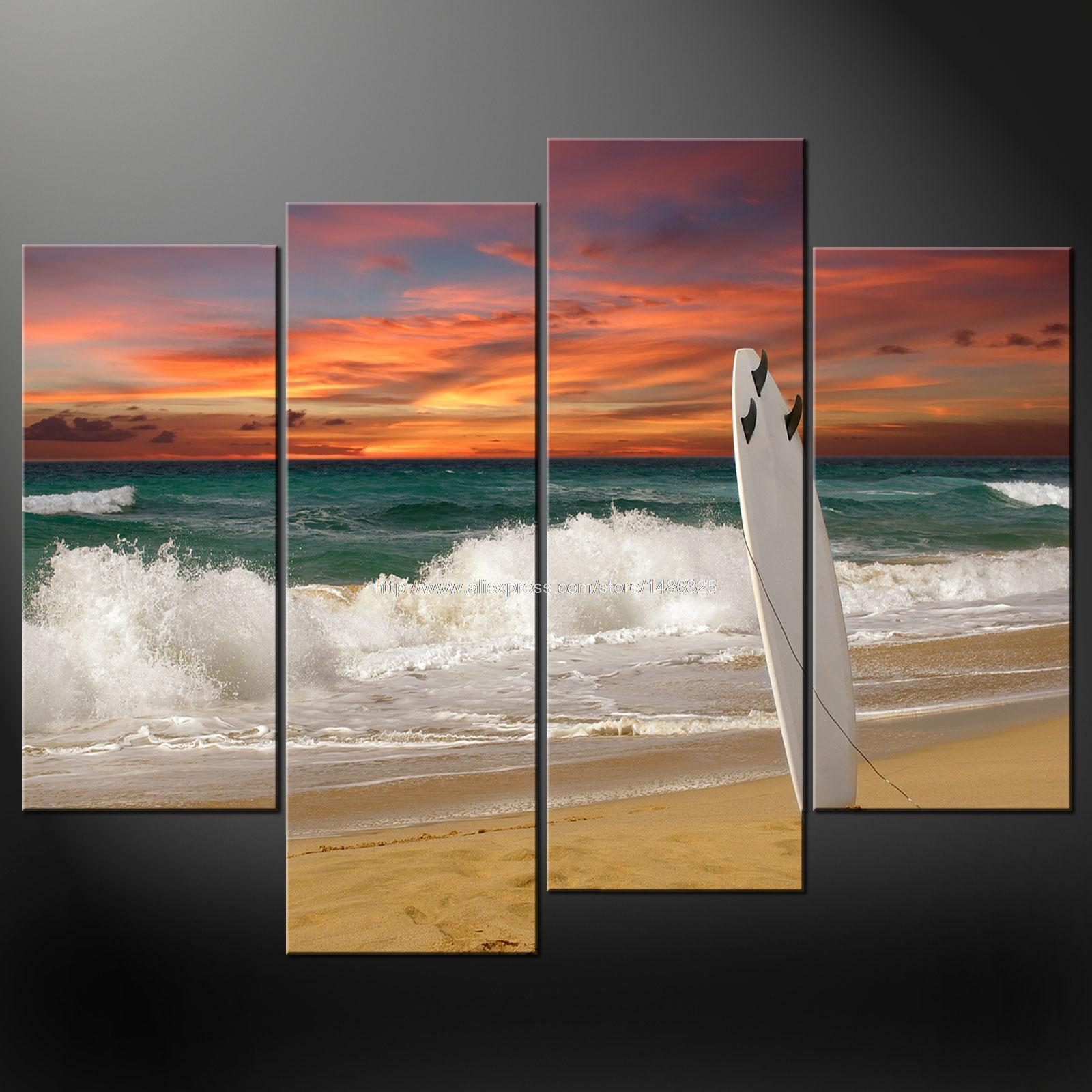 Surfing-font-b-Board-b-font-Premium-Cascade-Canvas-Picture-Many-Oil-font-b-Paintings-b